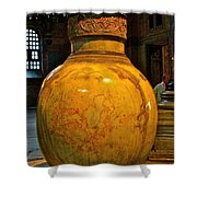 Huge Marble Jar Cut From One Piece Of Marble In Saint Sophia's I Shower Curtain