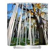Huge Tree Covered In Toilet Paper Shower Curtain