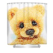 Huggable Teddy Bear Shower Curtain
