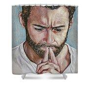 Hugh Jackman Shower Curtain