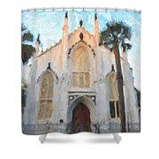 Huguenot Church Shower Curtain