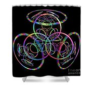 Hula Hoops Shower Curtain