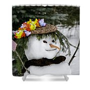 Hula Snowlady Shower Curtain