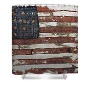 Hulbert Flag Early Us Flag 1776 Shower Curtain by Photo Researchers