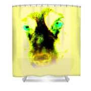 The Green-eyed Hulders Wolf Shower Curtain