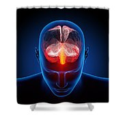 Human Brain Shower Curtain