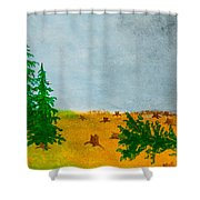 Human Destruction Shower Curtain