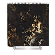 Human Frailty, C.1656 Shower Curtain