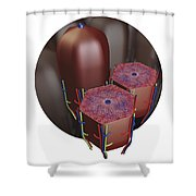 Human Liver Lobules, Cross-section Shower Curtain