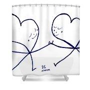 Human To Human Shower Curtain