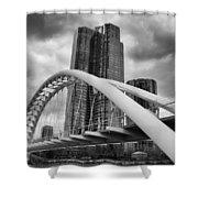 Humber River Arch Bridge 1392 Shower Curtain