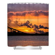 Humboldt Bay Industry At Sunset Shower Curtain