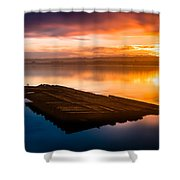 Humboldt Bay Spring Sunrise Shower Curtain
