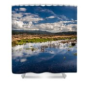 Humboldt Marshes In Spring Shower Curtain