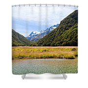 Humboldt Mountains Seen From Routeburn Track Nz Shower Curtain