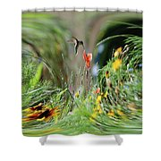 Humming Bird Digital Art Shower Curtain