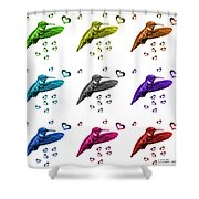 Hummingbird - 2055 F S M - Wb Shower Curtain