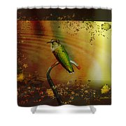 Hummingbird At The Pond Shower Curtain