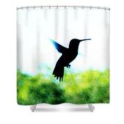 Hummingbird Hover Shower Curtain