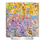 Hummingbird Spring Shower Curtain