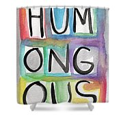 Humongous Word Painting Shower Curtain