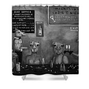 Hump Day Bw Shower Curtain