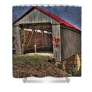 Artistic Humpback Covered Bridge Shower Curtain