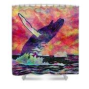Humpback Whale Digital Color Shower Curtain
