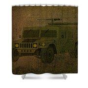 Humvee Midnight Desert  Shower Curtain
