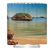 Hundred Islands In Philippines Shower Curtain