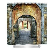 Hung Temple Arches Shower Curtain