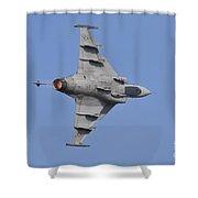 Hungarian Air Force Saab Jas-39 Gripen Shower Curtain
