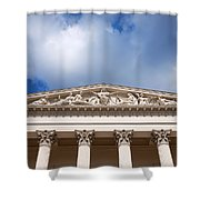 Hungarian National Museum Architectural Details Shower Curtain