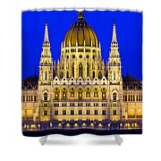 Hungarian Parliament At Twilight Shower Curtain