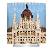 Hungarian Parliament Building In Budapest Shower Curtain