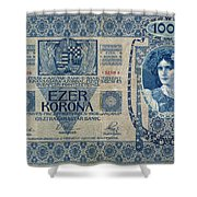 Hungary Banknote, 1902 Shower Curtain