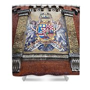 Hungary Coat Of Arms In Budapest Shower Curtain