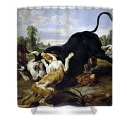 Hunted Bull Shower Curtain