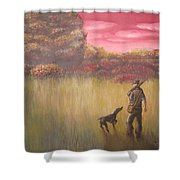 Hunter And Pointer Shower Curtain