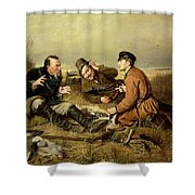 Hunters, 1816 Shower Curtain