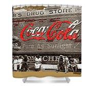 Hunter's Drug Store Coca-cola Mural Greensboro Georgia Marion Post Wolcott Fsa Spring 1939-2014  Shower Curtain