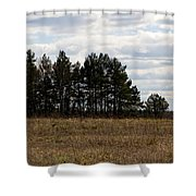 Hunter's Raised Blind In A Spring Field Shower Curtain