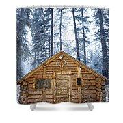 Hunting Cabin In Alberta Shower Curtain
