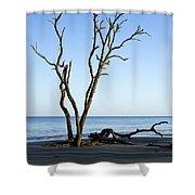 Hunting Island Graveyard Shower Curtain