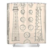 Hunting Island Light Shower Curtain