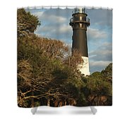 Hunting Island Lighthouse 1 Shower Curtain