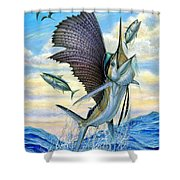 Hunting Of Small Tunas Shower Curtain by Terry Fox