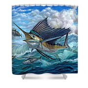 Hunting Sail Shower Curtain by Terry Fox