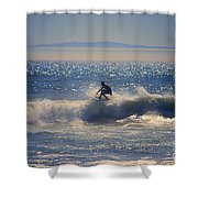Huntington Beach California Surfer Shower Curtain