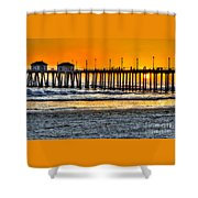 Huntington Beach Sunset Shower Curtain by Jim Carrell